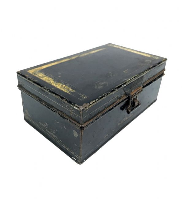 Antique Metal Spice Box / Tin / With Compartment Interior Tins / C.1900